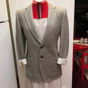 vintage 100% wool tweed jacket